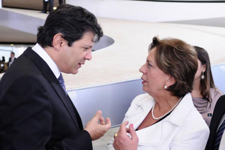 Fernando Haddad teve encontro com Rosalba em Brasília