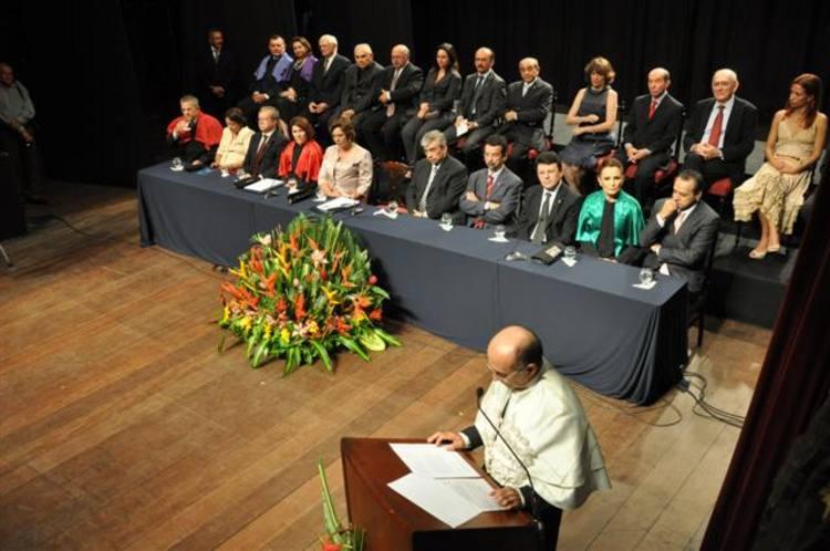 Transmissão do cargo de reitor da UFRN no Teatro Alberto Maranhão