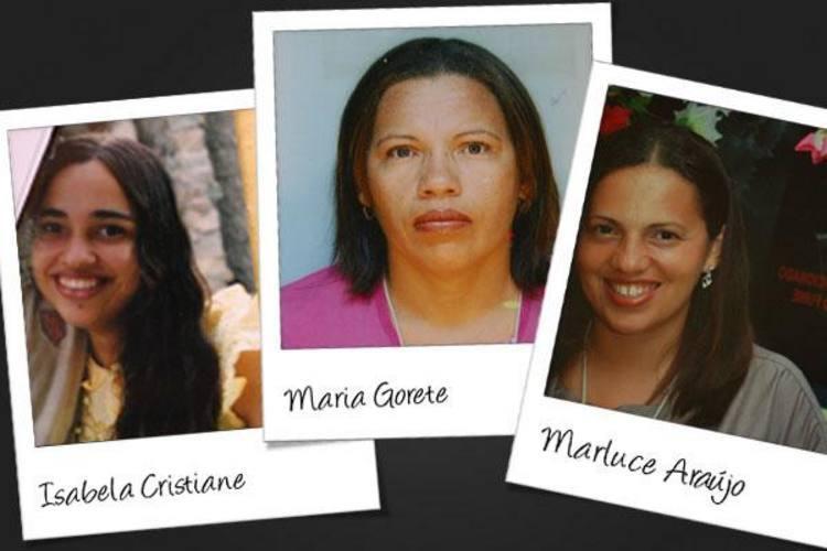 As irmãs Marluce Araújo dos Santos e Maria Gorete dos Santos e a jovem e Isabela Cristiane Avelino de Oliveira morreram ao ser atingidas pelo ônibus conduzido por Almício Pablo de Medeiros