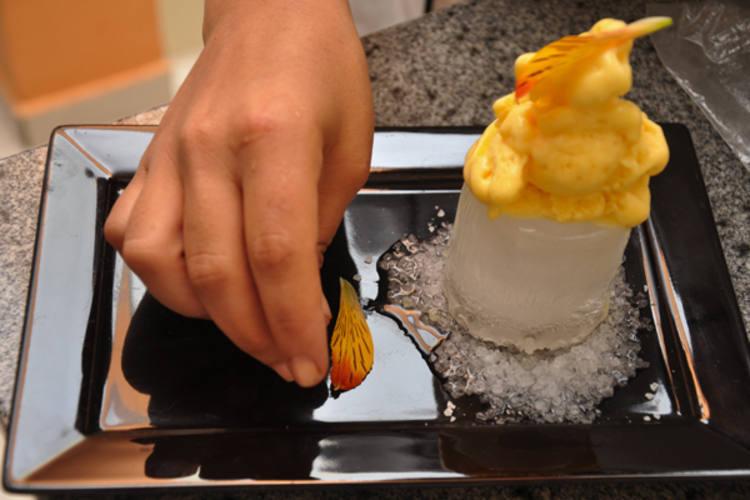 Sorvete de Ubaia preparado pela chef Gabriela Sales: - Os produtos não têm valor comercial, são colhidos para subsistência, diz