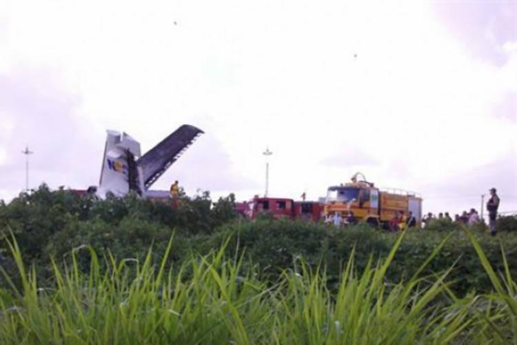 Aeronave caiu em um terreno baldio. Ainda não há informações que confirmem as causas do acidente