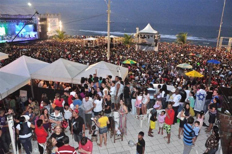 De acordo com a PM, cerca de 60 mil pessoas foram ao local para conferir a apresentação