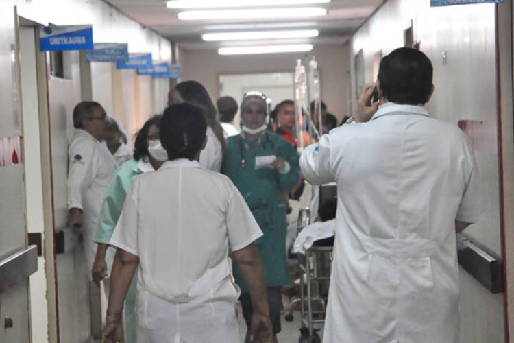 Ontem, 62 pacientes estavam internados nos corredores do HWG