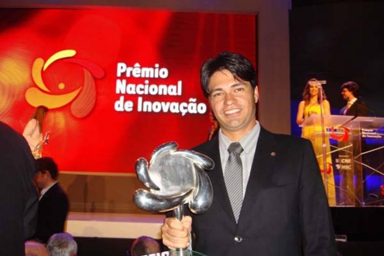 Guilherme Fábio, na solenidade de entrega do prêmio: reconhecimento pelo mercado nacional
