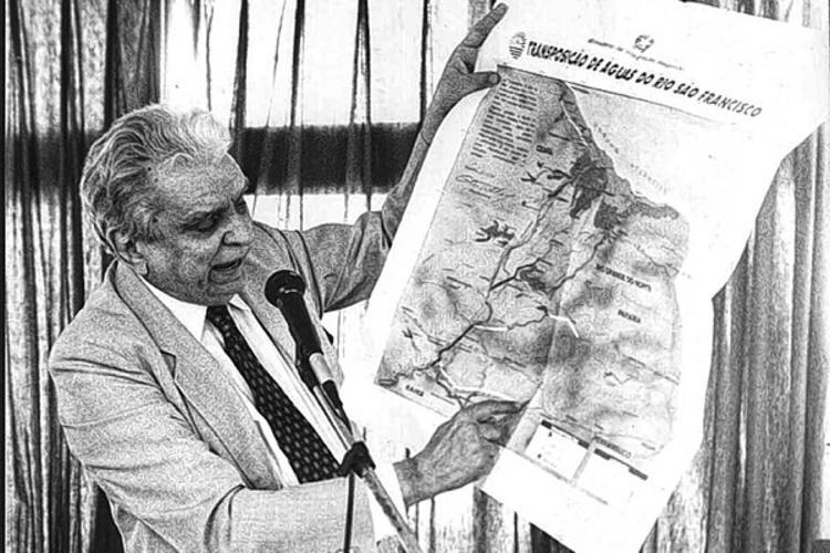 Ministro Aluízio Alves foi um entusiasta do projeto de transposição
