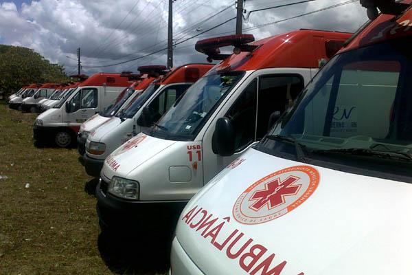 Ambulâncias doadas pelo governo federal foram distribuídas para Grande Natal, Mossoró e Assu