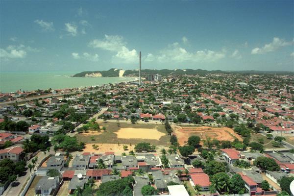 Ponta Negra, em 1999, antes do
