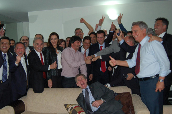 Deputado Fábio Faria comemora criação do PSD junto com o prefeito Kassab e lideranças paulistas