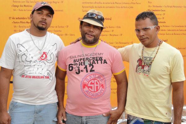 Daniel, Josivan e Antônio, filhos de Chico Daniel, participam com apresentações e oficinas
