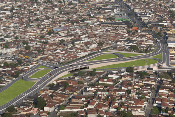 A área em torno do Viaduto da Urbana (foto-montagem) é uma das obras que já estão licitadas
