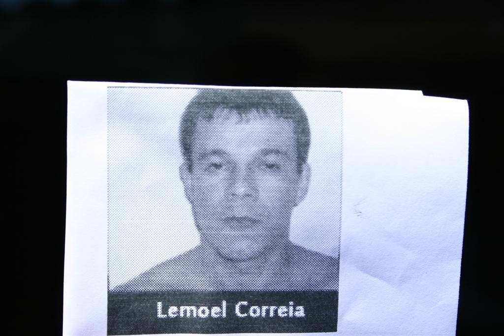 Lemoel Correia, acusado de atirar e matar o policial militar José Wilton de Almeida