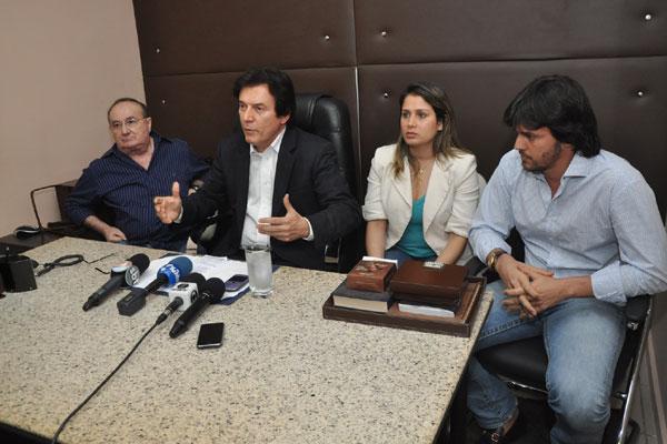 Robinson Faria anuncia, ao lado de José Dias, Gesane Marinho e Fábio Faria, o rompimento político com o governo