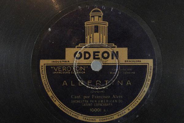 Disco de número 10001 do acervo: primeiro bolachão da era elétrica