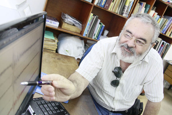 Joaquim Mendes Ferreira, diretor do Departamento de Sismologia da Universidade Federal do RN