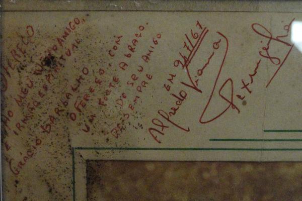Grácio Barbalho era amigo pessoal do mestre Pixinguinha, que dedica foto ao potiguar