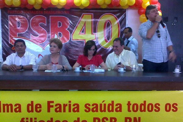 * PSB quer Wilma de Faria na prefeitura de Natal e Larissa Rosado em Mossoró.
