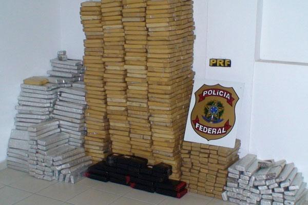Este ano, as policias Federal e Rodoviária Federal realizaram uma apreensão recorde de maconha no Estado: mais de 800 quilos da droga