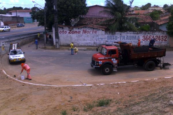 Trânsito é liberado no Viaduto da avenida das Fronteiras