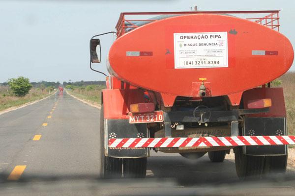 Hoje, 67 municípios do RN são atendidos pela Operação Pipa