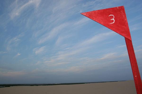 Território onde serão assentadas as torres com os aerogeradores já foi demarcado em área de dunas