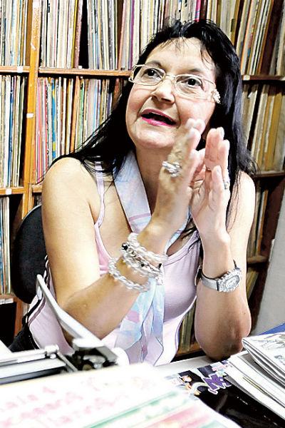 Ednalva Moura, programadora musical da Rádio Globo Natal (Cabugi)