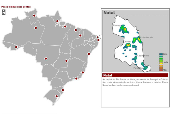 Mapa do crack no Brasil