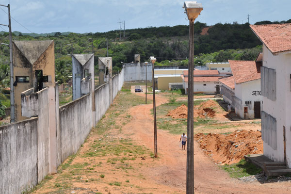Ontem, das onze guaritas do Presídio Estadual de Alcaçuz, apenas em cinco havia policiamento