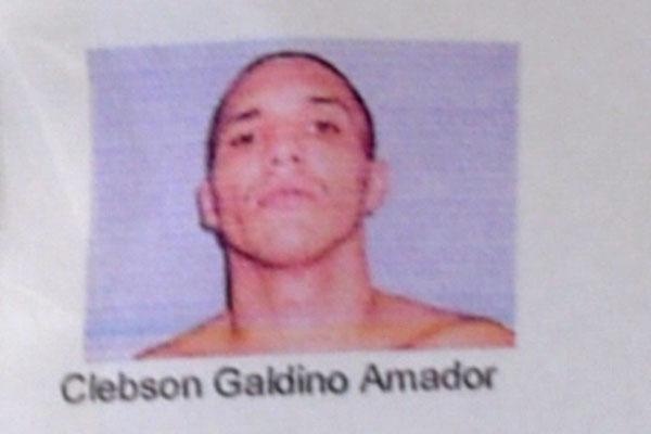 Clebson Galdino Amador, de 23 anos, é o sétimo preso recapturado da fuga do dia 20 de janeiro em Alcalçuz
