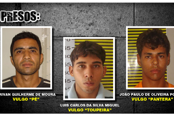 Polícia de Parnamirim já prendeu três acusados e procura pelos demais
