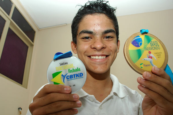 Iremar Vinícius, de 15, integrará pelo segundo ano consecutivo a Seleção Brasileira de Taekwondo Júnior