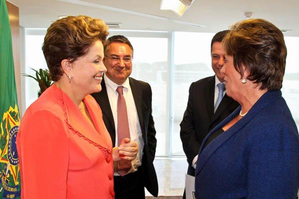 Dilma esteve reunida com a governadora Rosalba Ciarlini