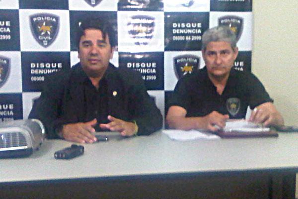 Delegados Fábio Rogério e José Carlos comentaram detalhes da operação que prendeu os criminosos