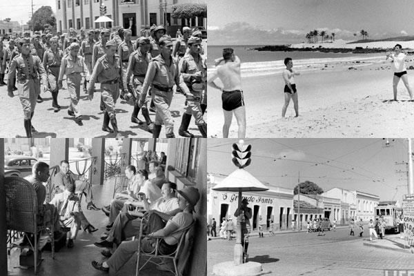 Série de fotos da Time-Life, clicadas por Hart Preston, trazem cenas inéditas de militares e civis na Natal de 1941.