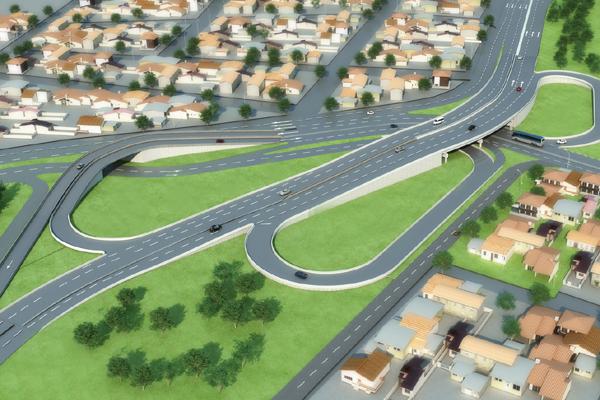 O complexo viário da Urbana, composto por avenidas e viadutos interligados, precisa de tempo hábil para ser totalmente concluído