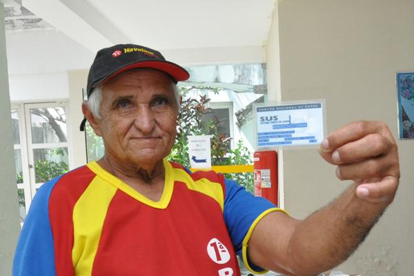 José Rosendo da Silva precisou passar por vários postos até conseguir a emissão do seu Cartão SUS