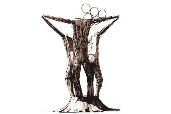 Monumento ao Atleta: escultura de Manxa em metal que ficava na área externa do Estádio Machadão, em Lagoa Nova. Foi removida em 2001 por falta de manutenção