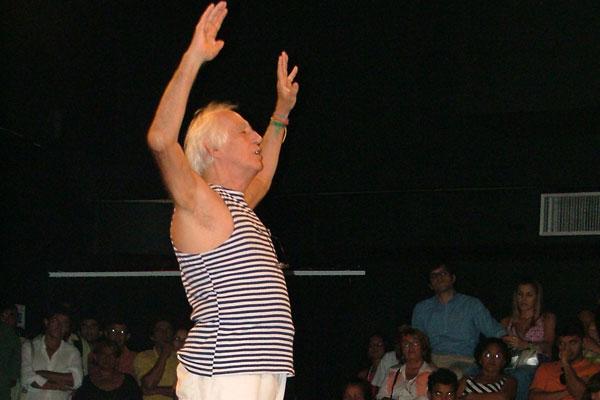 Zé Celso no Sandoval Wanderley, em 2006