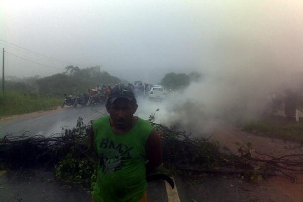 Farias Silva, líder da manifestação próxima a Ceará-Mirim