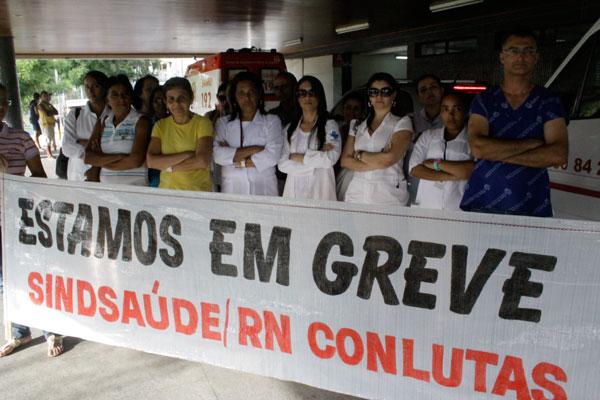 Paralisação também atingiu o pronto-socorro Clóvis Sarinho e o Hospital Walfredo Gurgel