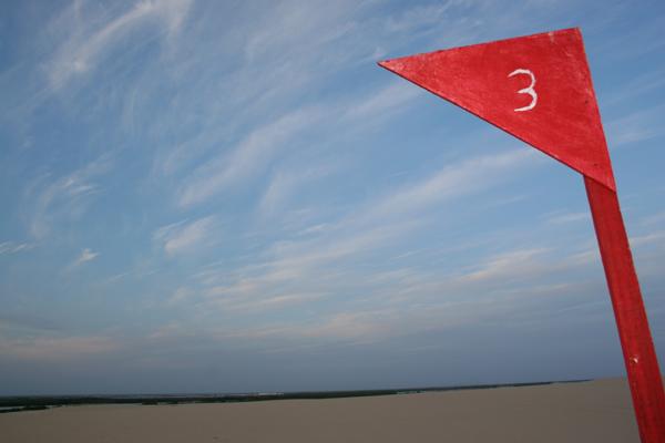 Área que deveria receber o projeto, em Galinhos: intenção de construir parque nas dunas gerou protestos