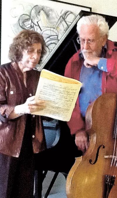 A pianista Ruth Smith e o violoncelista Italo Babini