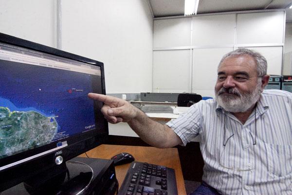 Joaquim Mendes Ferreira, coordenador do Laboratório Sismológico (LabSis) do Departamento de Geofísica.