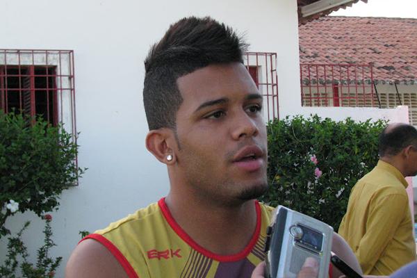 Raphael Augusto participou de uma parte do teste em Parnamirim