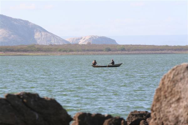 A barragem Armando Ribeiro Gonçalves, que atinge cinco municípios, tem pontos que, com a estiagem deste ano, não atendem às necessidades do homem.