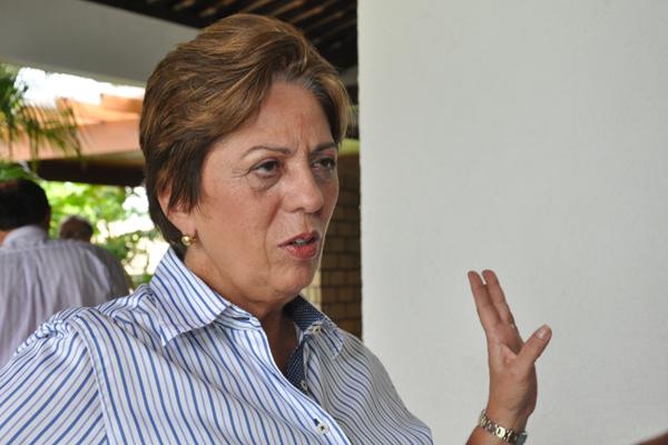 Governadora Rosalba Ciarlini afirmou que estará, em Natal, no palanque de Rogério Marinho