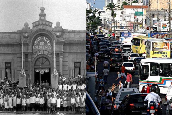 O antigo prédio, que até hoje abriga a Associação dos Escoteiros e a Escola Frei Miguelinho, foi reformado e perdeu seus traços originais. E o Alecrim atual, no seu burburinho cotidiano.