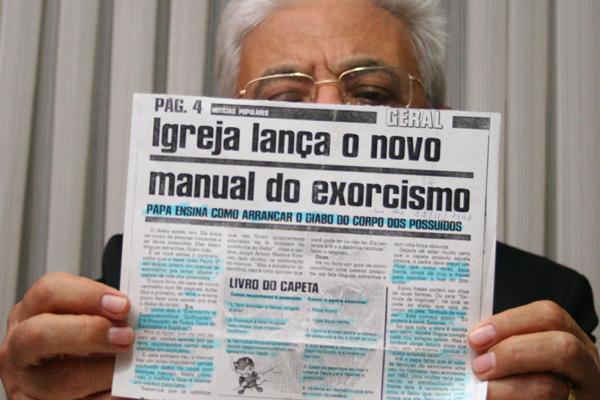 Padre José Mário - que é o único exorcista da Igreja Católica no Estado e um dos dez que atuam no País - já realiza exorcismos no eremitério