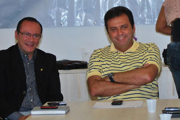 Raniere Barbosa e Carlos Eduardo participaram da reunião entre PDT e PRB