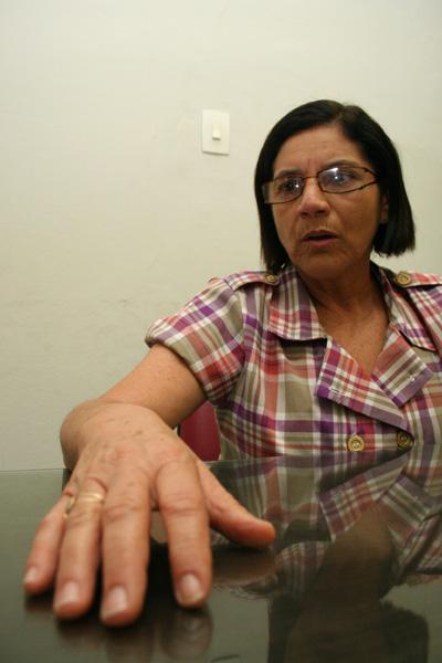 Fátima Cardoso, presidente reeleita do Sinte-RN