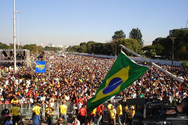 Marcha para Jesus, símbolo das grandes mobilizações coordenadas pelos evangélicos brasileiros